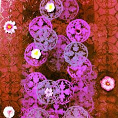 tela Mandalas Florais em pintura acrilica e tecnica mista 2011 - 50x60 -  acrylic on canvas - Melina Ollandezos