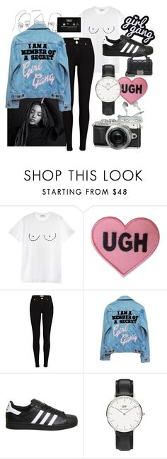 """NINA."" by furstenberg ❤ liked on Polyvore featuring Diesel, River Island, High Heels Suicide, CASSETTE, adidas, Retrò, Daniel Wellington and Chanel"