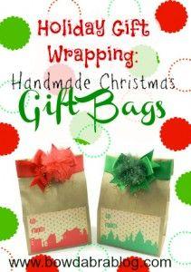 DIY Holiday Gift Wrapping: Handmade Christmas Gift Bags