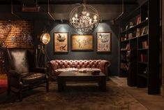 52 ideas home office man cave chesterfield Man Cave Room, Man Cave Basement, Man Cave Home Bar, Man Cave Garage, Cave Bar, Garage Bar, Whiskey Room, Whiskey Lounge, Man Cave Office
