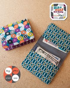 Quality Sewing Tutorials: Simple Wallet tutorial from Green Bee Design & Patterns