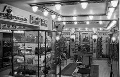 Inside Hermes Paris store, 1952.