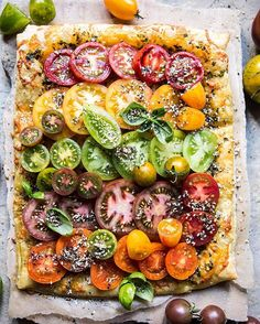 Heirloom Tomato Cheddar Tart with Everything Spice. Simple, cheesy and perfect.