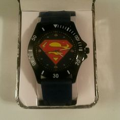 SUPERMAN WATCH NEW !!! MUST SELL!!! Brand new Superman watch.  It comes in the original Superman case. It retails for $35.00. Comes from a smoke-free and pet-free home.  Please feel free to make an offer! Accessories Watches