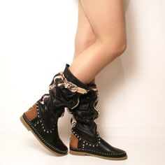 Limited edition Black Native American Indian by nativeboots, $235.00