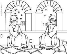 Nicodemus 1 (Coloring Page) Coloring pages are a great way to end a Sunday School lesson. They can serve as a great take home activity. Or sometimes you just need to fill in those last five minutes…
