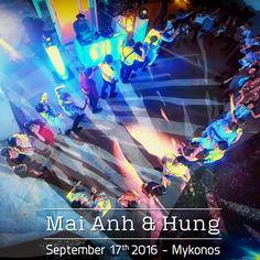 #Aerial View of the #Dancefloor captured on the #Wedding of Mai Anh & Hung in #Mykonos | September 2016 | #DJInMykonos #WeddingDJinGreece #GreekWeddingDJ #WeddinginGreece #VietnameseWedding #MykonosWeddings #MikeVekrisOnTour2016