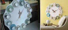 Eski Fincanlardan Dekoratif Duvar Saati Yapımı