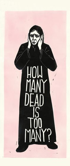 """""""How Many?"""" by Alec Icky Dunn. http://arrestedmotion.com/. Tags: Linocut, Cut, Print, Linoleum, Lino, Carving, Block, Woodcut, Helen Elstone, Human, Protest, Lettering, Fonts, Typography."""