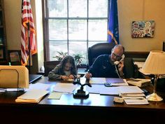 """A couple of """"summer interns"""" (aka daughters) visited the office yesterday to help return calls to constituents. #WIRight #WIWorking """
