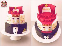 Birthday Cake Cinema - Gâteau d'anniversaire thème Cinéma - Un Jeu d'Enfant Cake Design Nantes