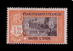 French INDIA 1929 Sc#91