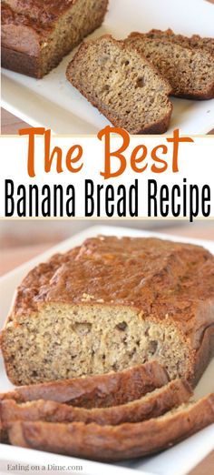 You're going to love this Easy banana bread recipe.It's such a Moist banana bread recipe. Homemade banana bread is delicious! Learn how to make the best banana bread. You can also add chocolate chips to make banana chocolate chip bread. Low Sugar Banana Bread, Homemade Banana Bread, Moist Banana Bread, Easy Bread Recipes, Banana Bread Recipes, Cooking Recipes, Healthy Recipes, Healthy Food, Best Nutrition Food