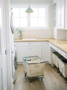 Zonas de lavado y planchado en cuartos anexos