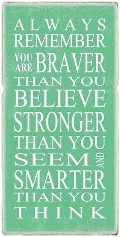 Gotta love the Pooh quotes!