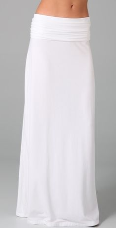 white jersey maxi skirt