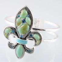 Turquoise Fleur Di Lei Bracelet  Free Shipping