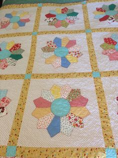 This cheerful Dresden pattern was inspired by Lori Holts Farm Girl Vintage book. Ive been having fun making several blocks from her book. Her easy Dresden technique made this quilt extra fun. At 63 inches square it is a great size for having handy for a long nap, or short rest on your favorite spot in or out of the house. Drape it over the back of a favorite chair or porch swing for a great country look. Thanks for visiting our shop. Happy Spring