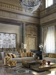 Top 11 Blue Living Room Designs by Best Interior Designers Sophisticated Living Rooms, Living Room Modern, My Living Room, Living Room Designs, Living Room Decor, Dining Room, Luxury Sofa, Luxury Living, Luxury Furniture