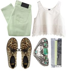 """Mint."" by carocuixiao on Polyvore"