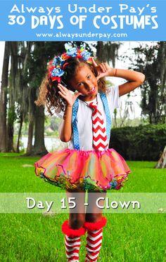 Day 15   Clown DIY Halloween Costume Tutorial Cheap Easy