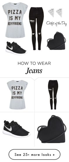 """""""Untitled #2131"""" by doinacrazy on Polyvore featuring Christopher Kane, NIKE, Topshop and Petit Bateau"""