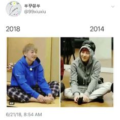 He's still so smol Exo Chanbaek, Exo Ot12, Exo Xiumin, Exo Sign, Xiuchen, Kim Min Seok, Exo Memes, Kris Wu, Funny Laugh