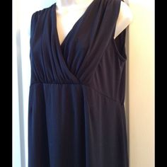 OLD NAVY MATERNITY STRETCH M Comfy black maternity dress some piling in the front FLASH pic on 3 not bad at all Dresses