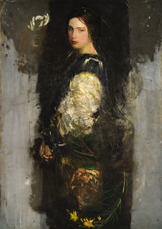 Abbott Handerson Thayer, Study of Alma Wollerman (Mrs. Gerald Thayer), ca. 1915. Oil on canvas. Jean Reasoner Plunket Trust.