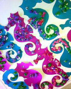 popcorn seahorses! i love popcorn and i love seahorses! Ocean Unit