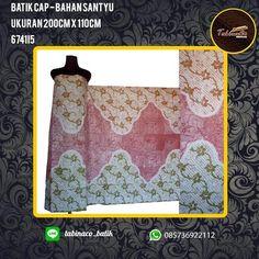 batik cap - bahan santyu ukuran 200cm x 110cm  http://tabinacobatik-madura.blogspot.co.id/2017/03/kain-batik-madura-cap.html