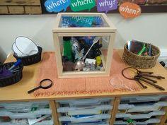 Magic key curiosity cube Inquiry Based Learning, Learning Activities, Preschool Classroom, Classroom Decor, Curiosity Approach Eyfs, Curiosity Box, Dramatic Play Area, Tuff Tray, Classroom Behavior Management