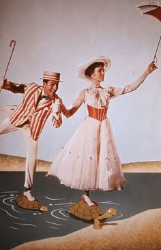 """Who doesn't love this movie? Such a classic. (Julie Andrews and Dick Van Dyke in """"Mary Poppins"""".)"""