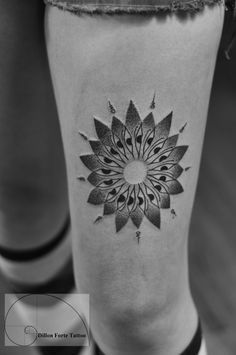 Dotwork mandala tattoo by Dillon Forte Tattoo