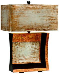 Kichler Vivido Rectangular Shade Unique Table Lamp - EuroStyleLighting.com