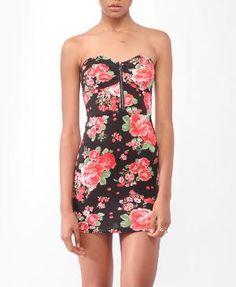 Floral Bustier Tube Dress | FOREVER21