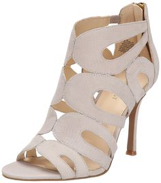 Nine West Women's Flora Nubuck Heeled Sandal >>> Find out more details by clicking the image : Block heel sandals