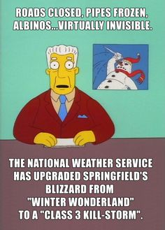 More Simpsons predicting the future - the winter weather this year