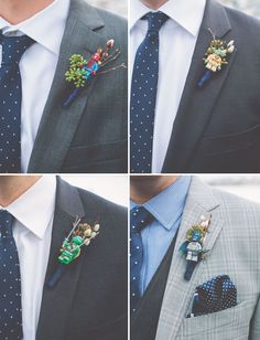 OMG. Love this! Action figure lego boutonnieres