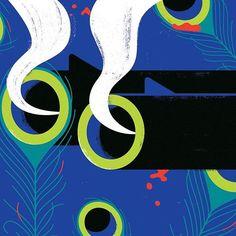 'The murder of the Thimbleby Peacock' for Waitrose Weekend . . . #illustration #illustrator #design #editorial #magazine #art #picame #artdirection #graphicdesign #designer #picame #thedesigntip #illustree #designarf #artdirection #artdirector #textures #vectors #artwork #graphicart #artwork #vectorart #geometric #minimal #vector #graphic #visualdesign