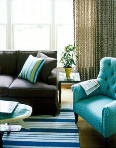 Turquoise on brown sofa | For my Home | Pinterest | Turquoise and ...