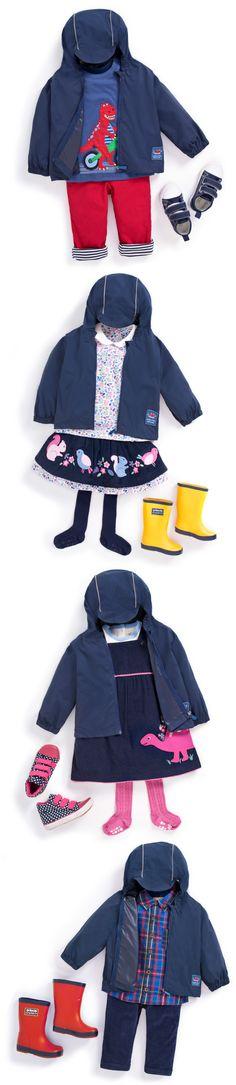 4 ways to wear a packaway raincoat. JoJo Maman Bebe #childrenswear #kids #fashion #outfit