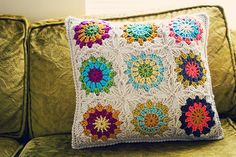 hooray for crocheted pillows!