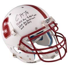 ... NCAA Jersey Christian McCaffrey Stanford Cardinal Fanatics Authentic  Autographed Schutt Full-Size Pro Helmet with Stats Inscription ... 3ec8d7c80