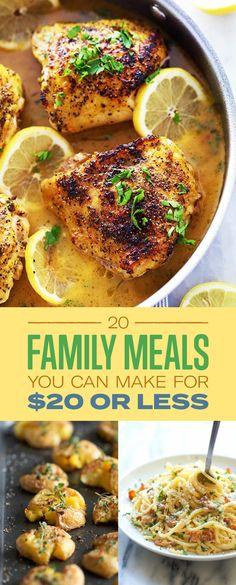 Itt van hogyan kell etetni az egész család alatt $ 20