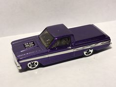 Hot Wheels '65 Ford Ranchero Lowered Custom Hot Rod Purple 2010 #HotWheels #Ford