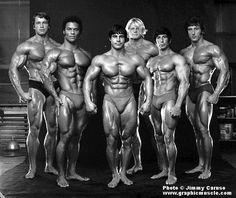 Arnold, Serge Nubret, Franco Columbo, Dave Draper, Unknown, Frank Zane