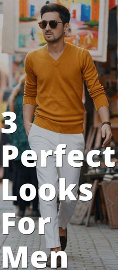 3 Perfect Looks For Men Mens Fashion Blog, Daily Fashion, Men's Fashion, Outfits For Teens, Trendy Outfits, Style Outfits, Men Style Tips, Men's Grooming, Casual Looks