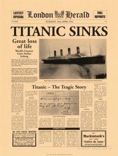 Titanic Sinks Poster von The Vintage Collection bei AllPosters.de