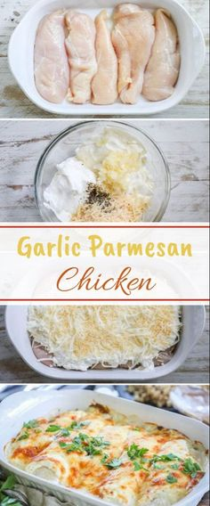 This Garlic Parmesan Chicken has probably the best kinds of any chicken dish I have made! It is the ideal combo of smooth and velvety cheddar, rich … Garlic Parmesan Chicken - Garlic Parmesan Chicken Best Dinner Recipes, Gourmet Recipes, Low Carb Recipes, Cooking Recipes, Healthy Recipes, Steak Recipes, I Love Food, Good Food, Yummy Food